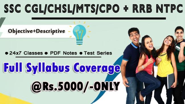 TARGET SSC CGL/CHSL/MTS + RRB Course