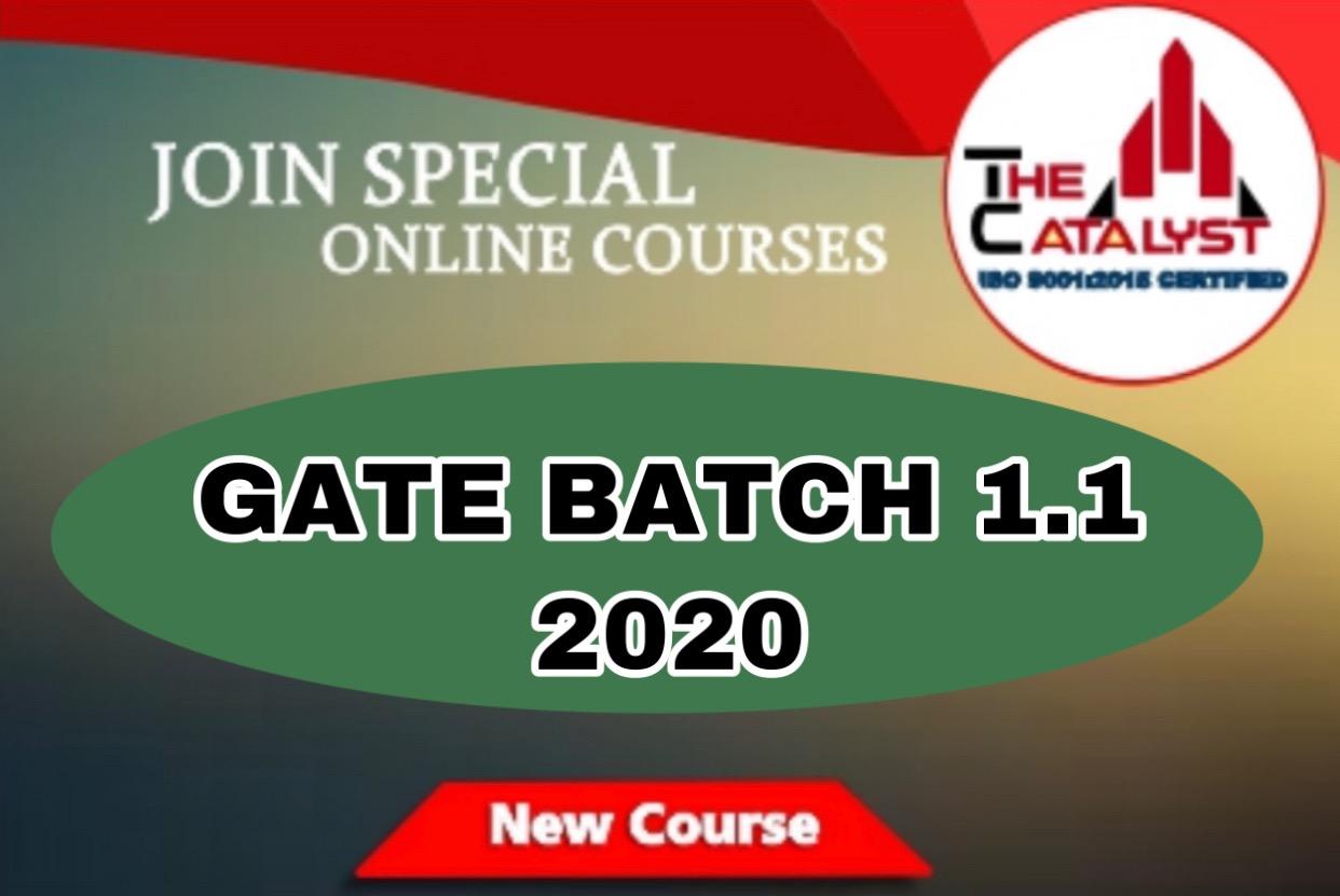 GATE BATCH 1.1(CIVIL)