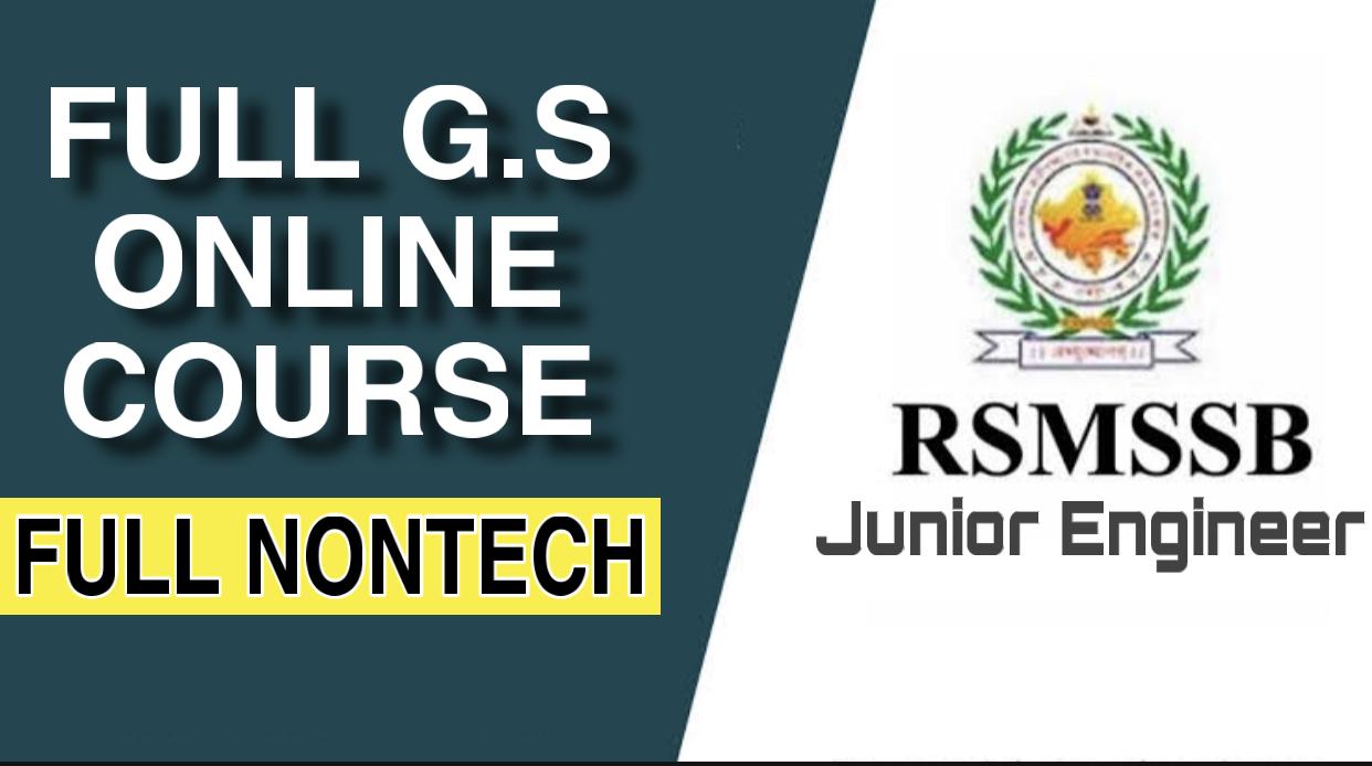 Rajasthan JE(Full Nontech)